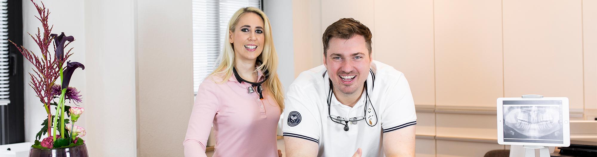 Dr. Nina Barth und Dr. med. dent. Adrian Naumann - Ihre Zahnärzte in Schwabing
